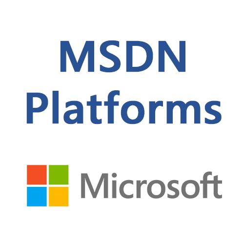 MSDN Platforms