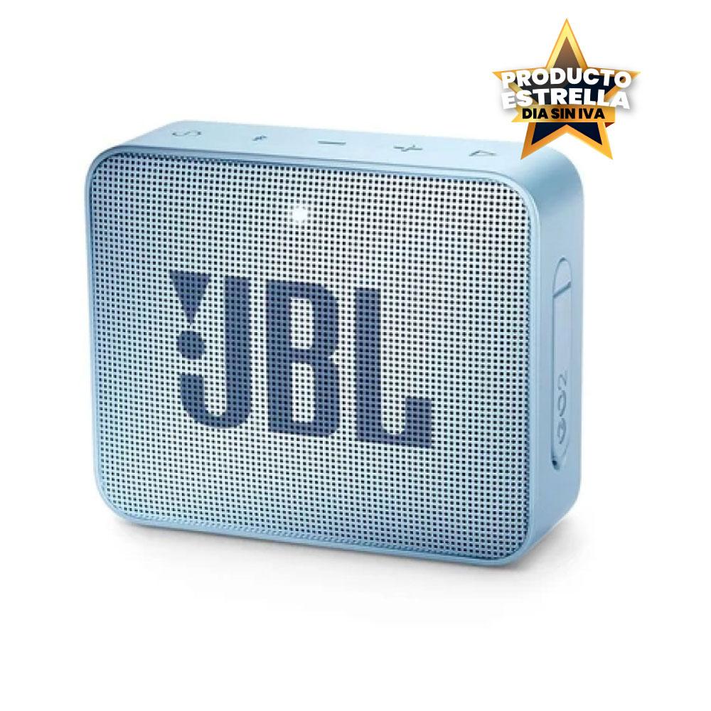 JBL SPEAKER GO 2 BT ICECUBE CYAN IMPERMEABLE - JBLGO2CYAB Día sin IVA